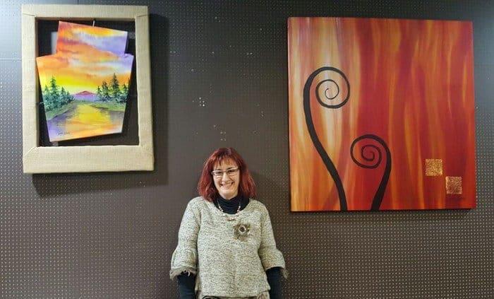 Marta Batalla en la exposición del Café del Museo de Lleida