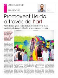 """Artículo sobre Marta Batalla aparecido en el periodico """"La Mañana""""."""