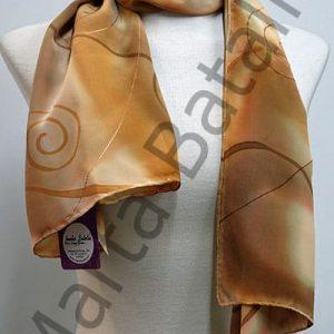 Foulard con espirales en marrón