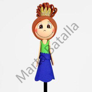 Lapiz fofucha con la imagen de una princesa castaña