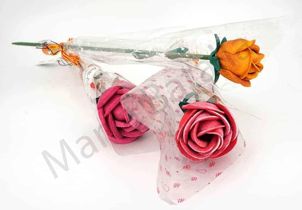 Rosas de Goma Eva para la diada de Sant Jordi