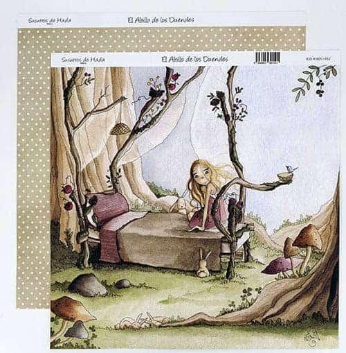 Papel Scrapbooking - El altillo de los duendes - Susurro de Hada número 1