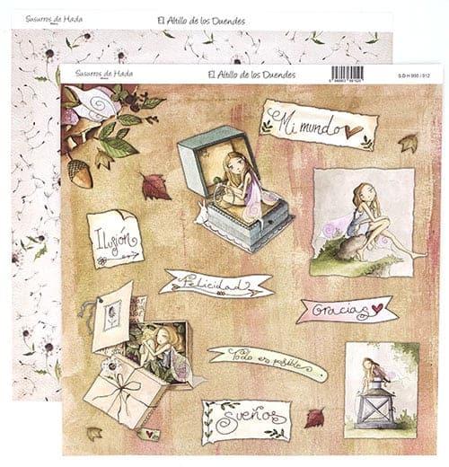 Papel Scrapbooking - El altillo de los duendes - Susurro de Hada número 3